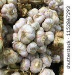 close up of garlic bunch for... | Shutterstock . vector #1152867293