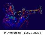 jazz trumpet player. vector... | Shutterstock .eps vector #1152868316