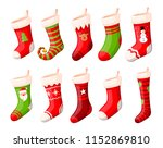 christmas stockings vector set... | Shutterstock .eps vector #1152869810