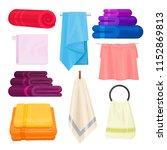 kitchen and bathroom towels... | Shutterstock .eps vector #1152869813