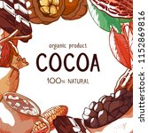 cocoa vector frame background.... | Shutterstock .eps vector #1152869816