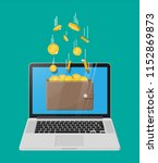 concept of online income.... | Shutterstock .eps vector #1152869873