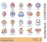 bioengineering rounded vector... | Shutterstock .eps vector #1152872330