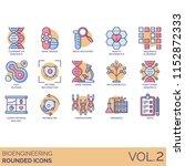 bioengineering rounded vector... | Shutterstock .eps vector #1152872333
