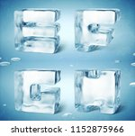 3d render of shiny frozen ice... | Shutterstock . vector #1152875966