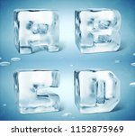 3d render of shiny frozen ice... | Shutterstock . vector #1152875969