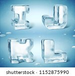 3d render of shiny frozen ice... | Shutterstock . vector #1152875990