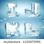3d render of shiny frozen ice... | Shutterstock . vector #1152875990
