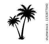 palm tree silhouette vector... | Shutterstock .eps vector #1152877040