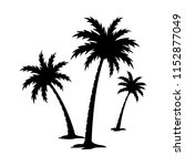 palm tree silhouette vector... | Shutterstock .eps vector #1152877049