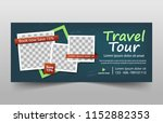 travel tours banner template ... | Shutterstock .eps vector #1152882353