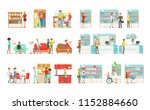 people choosing and buying... | Shutterstock .eps vector #1152884660