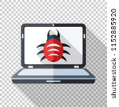 laptop icon in flat style... | Shutterstock .eps vector #1152885920