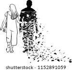 the woman is imagining her... | Shutterstock .eps vector #1152891059