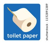 toilet paper sign icon for web... | Shutterstock .eps vector #1152891389