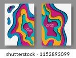 vector paper cut layouts design ... | Shutterstock .eps vector #1152893099
