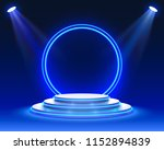 stage podium with lighting ... | Shutterstock .eps vector #1152894839