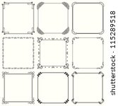 vector decorative frames  set... | Shutterstock .eps vector #115289518