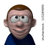 smiling comic character   3d... | Shutterstock . vector #115289890