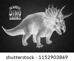 graphic triceratops. vector... | Shutterstock .eps vector #1152903869