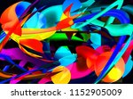 abstract moving shapes | Shutterstock . vector #1152905009