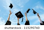 graduates throwing graduation... | Shutterstock . vector #115290760