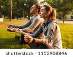 image of concentrated fitness... | Shutterstock . vector #1152908846