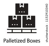 some boxes and crates placed... | Shutterstock .eps vector #1152910340