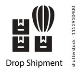 hot air balloon loaded with...   Shutterstock .eps vector #1152910400