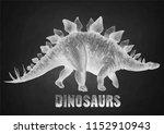 graphic stegosaurus. vector... | Shutterstock .eps vector #1152910943