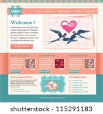 elegant wedding website template   Shutterstock .eps vector #115291183