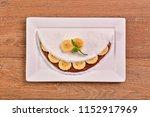 tapioca filled with hazelnut... | Shutterstock . vector #1152917969