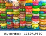 colourful indian chudi stacked... | Shutterstock . vector #1152919580