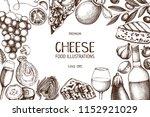 vector menu design with italian ... | Shutterstock .eps vector #1152921029