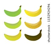 banana stages of ripeness icon... | Shutterstock .eps vector #1152924296