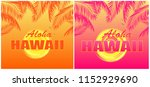 t shirt prints with aloha... | Shutterstock .eps vector #1152929690