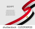 waving flag of egypt. template... | Shutterstock .eps vector #1152930920