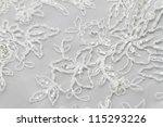 detail of wedding dress  macro  | Shutterstock . vector #115293226