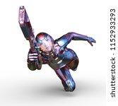 3d cg rendering of cyborg... | Shutterstock . vector #1152933293