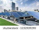 solar and modern city skyline  | Shutterstock . vector #1152939290