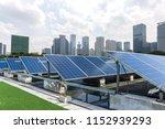 solar and modern city skyline  | Shutterstock . vector #1152939293