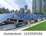 solar and modern city skyline  | Shutterstock . vector #1152939296