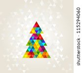 christmas tree in rainbow colors | Shutterstock .eps vector #115294060