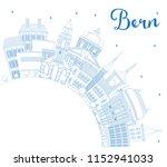 outline bern switzerland city... | Shutterstock .eps vector #1152941033