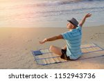 summer lifestyle portrait male...   Shutterstock . vector #1152943736
