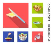 dessert fragrant flat icons in... | Shutterstock . vector #1152948470