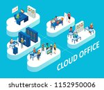 cloud office concept. isometric ... | Shutterstock . vector #1152950006