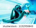 slender sexy dark haired girl... | Shutterstock . vector #1152950843