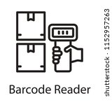 hand scanning the barcodes via ... | Shutterstock .eps vector #1152957263