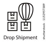 hot air balloon loaded with...   Shutterstock .eps vector #1152957389